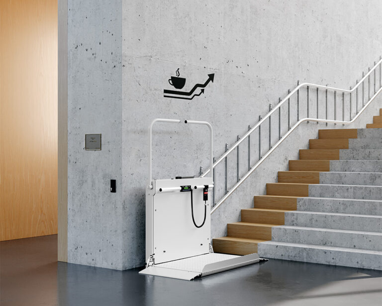 Hiro 320 wheelchair lift curved stairs