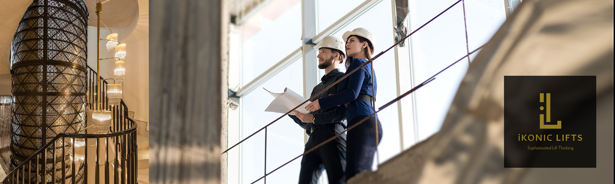 Two engineer-architects, a man and a woman discuss a constructio